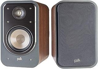 Polk Audio Signature Series S20 American Hi-Fi Home Theater Large Bookshelf Speakers - Pair (Classic Brown Walnut)