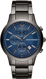ساعة كرونوغراف كوارتز للرجال بسوار ستانلس ستيل من امبوريو ارماني - موديل AR11215