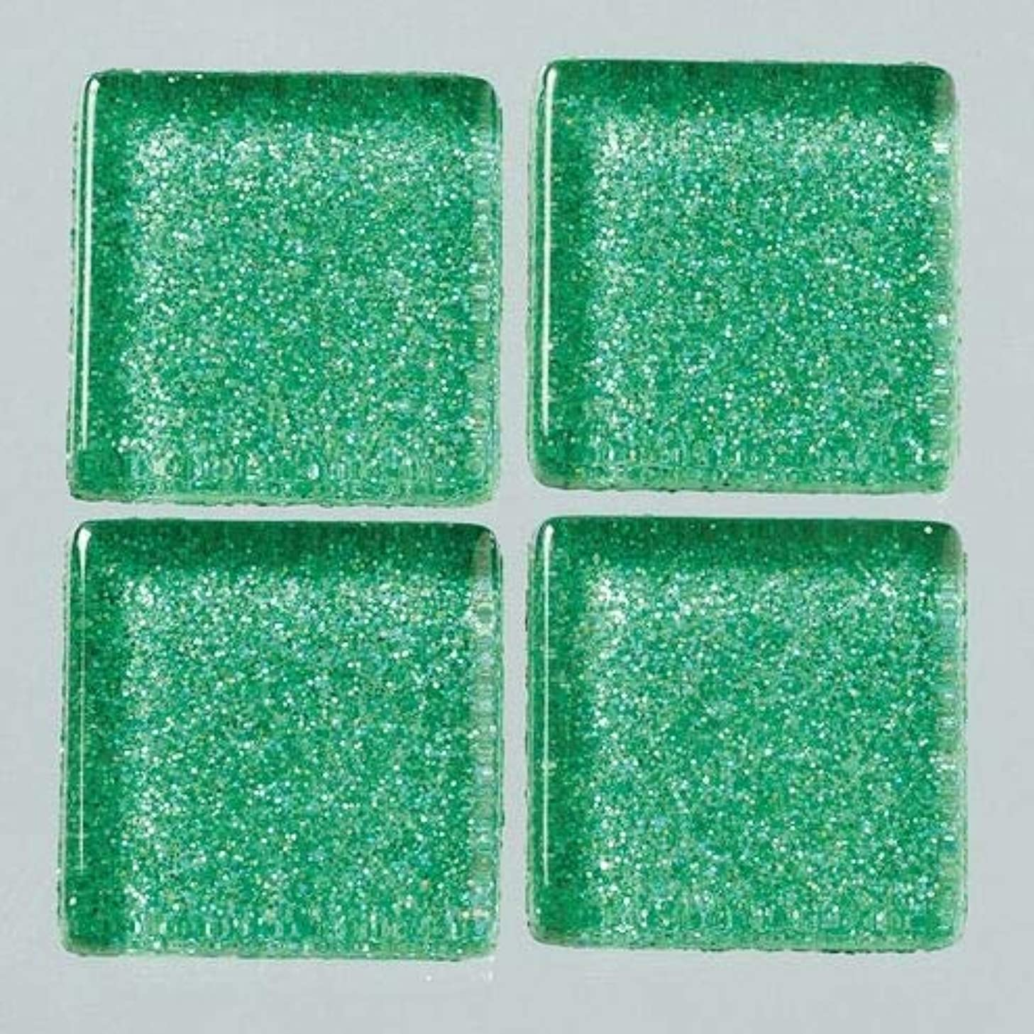 MosaixPro 20 x 20 x 4 mm 200 g 41-Piece Glass Glitter Tiles, Turquoise