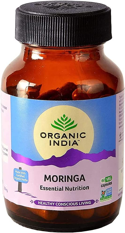 Polet Limited time cheap sale Organic Brand new India Moringa Essential Nutrition - Veg 60 N Capsu