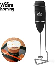 Milk Frother - Electric Rubber Handheld Milk Frother with Stand