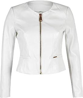 hot sale online 9ccd2 e90b0 Amazon.it: giacca ecopelle - Bianco / Donna: Abbigliamento