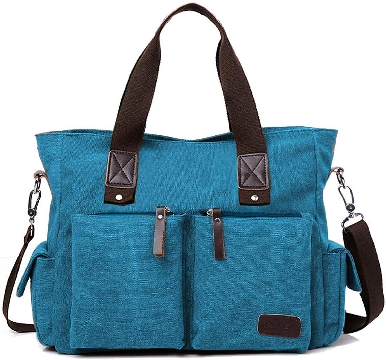 GaoMiTA Shoulder Bag Handbag Bag Men's Diagonal Bag Bag Canvas Bag Personal Computer Bag Multifunction PC Tablet Storage Capacity Large Capacity