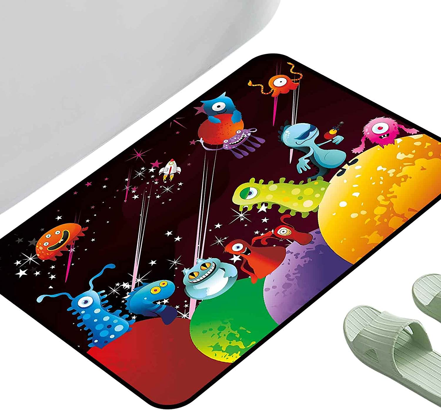 Super Absorbent Polyester Rug Funny Aliens Party P A Over Elegant Max 60% OFF Having