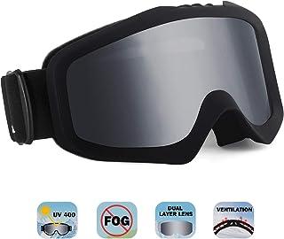 19138a6b53 Unigear Gafas de Esquí OTG Esquiar Protección UV 400 Snowboard Revo Lentes  Doble Anti-Niebla