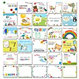 Kids School Lunch Box Notes - 30 Inspirational Motivational Lunchboxes Greeting Card For Boys Girls, Affirmation Encouragement Fun Love note cards, Thinking of You/Encouraging Student Teens,D01