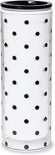 Kate Spade New York Polka Dot 16 Ounce Insulated Travel Mug, Double Wall Thermal Tumbler for Coffee/Tea, Black Spade Dot