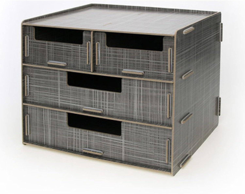 LDFN BookcaseWooden Creative Desktop Storage Box Multi-Drawer Sundries Organizer Desktop Storage Cabinet,F