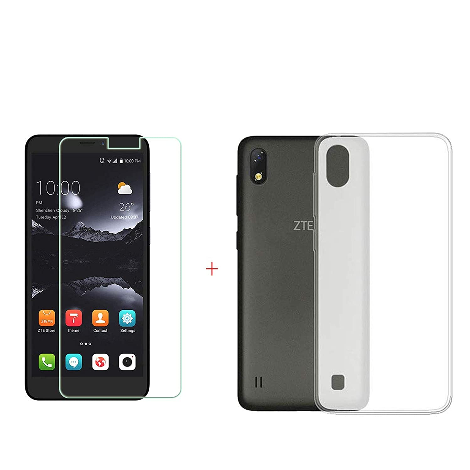 SZJCKJ Translucent Case + HD Screen Protector for ZTE Blade A530 (5,45