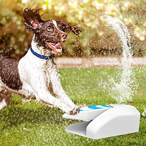 Pet Water Sprinkler, Easy Activated Dog Water Fountain, Automatic Dog Waterer Step-on Outdoor Fresh Cold Drinking Water Fountain for Dogs