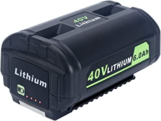 Lasica OP4050A 40V 6000mAh Lithium Battery for Ryobi 40-Volt Collection Cordless Power Tools Li-ion Battery OP4040 OP4026A OP40201 OP40261 OP4030 OP40301 OP40401 OP40601 OP40501 Ryobi 40V Battery