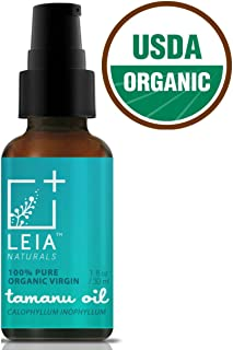 Organic Tamanu Oil for Acne, Scars, Eczema, Psoriasis, Stretch Marks, Shingles, Rosacea, Anti-Aging, Dry Skin and More, Rejuvenates Skin, Scalp and Hair, 100% Pure Virgin Cold Pressed Unrefined