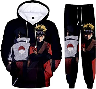 Naruto 3d Hooded Sweater Suit Spring and Autumn Men's and Women's Casual Anime Sportswear Two-piece Suit