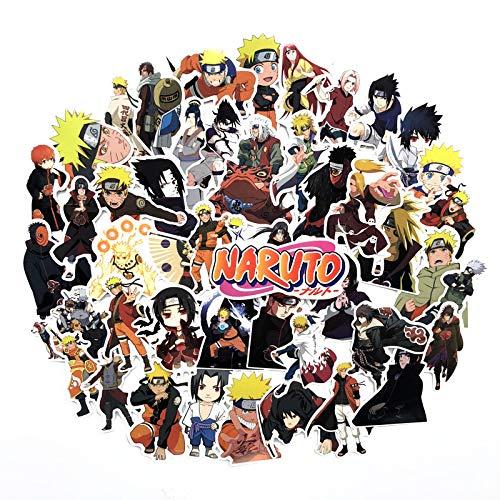FENGLING Japón anime Naruto Sasuke dibujos animados para snowboard ordenador portátil equipaje nevera coche - styling vinilo decoración del hogar pegatinas 50 unids/lote