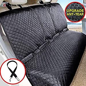 Vailge Bench Dog Seat Cover for Back Seat, 100% Waterproof Dog Car Seat Covers, Heavy-Duty & Nonslip Back Seat Cover for Dogs,Washable & Compatible Pet Car Seat Cover for Cars, Trucks & SUVs