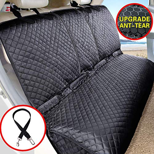 Vailge Bench Dog Seat Cover for Back Seat, 100% Waterproof Dog Car Seat Covers, Heavy-Duty & Nonslip Back Seat Cover for Dogs,Washable & Compatible...