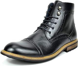 Bruno Marc Men's Brogue Dress Boots Formal Derby Ankle