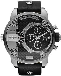 ساعة ديزل ليتل دادي سوداء للرجال بسوار من الجلد - DZ7256