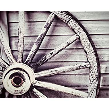 Antique Wagon Wheel Photo Country Decor 8x10 inch print