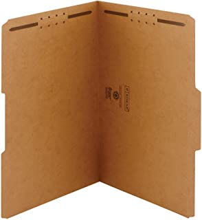Smead Fastener File Folder, 2 Fasteners, Reinforced 1/3-Cut Tab, Legal Size, Kraft, 50 per Box (19837)