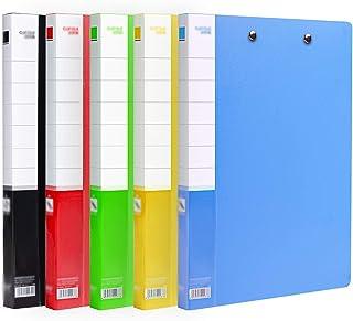 LJXLXY Dossier de Fichiers 20 Packs Folder Plastic Dossier Mixte Cover Cover Presse-papiers Double Dossier Données Organis...