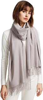 Womens Large Soft Cashmere Feel Pashmina Shawls Wraps Light Scarf
