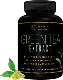 Green Tea Extract with EGCG 1000mg Healthy Metabolism Formula For Women & Men, Antioxidant Detox Tea, Immune & Heart Suppo...