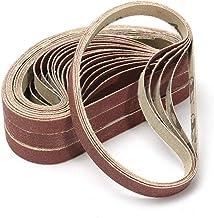 UIEMMY Sandpapper 10 st 13 x 457 mm slipbälten 40-1000 korn sandpapper slipband för slipverktyg trä mjuk metallpolering, 1...