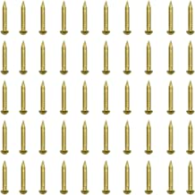 RZDEAL 100 PCS 0.08'' x 0.6'' Round Head Brass Nails for Hinges Boxes Craft Projects(DIY)