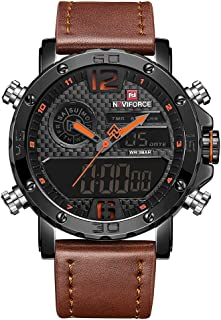 Andoer NF9134 Quartz Fashion Watch Men Watches Top Brand Luxury Male Clock Business Dual Display 30M Waterproof Wrist Watc...