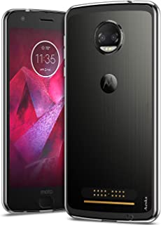 Aeska Moto Z2 Force Case, Ultra [Slim Thin] Flexible TPU Soft Skin Silicone Protective Case Cover for Motorola Moto Z2 Force Edition (Clear)