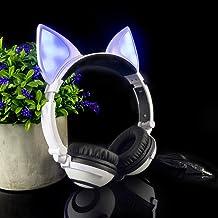 LIMSON Over-Ear Headphones,Stereo LED Light Up On-Ear Headphones for Kids Girls Boys Adults,Gaming Earphones for Phones Ta...