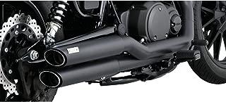 Vance & Hines Twin Slash Staggered Motorcycle Exhaust System Black - Fits: Suzuki Boulevard M50 LTD VZ800Z 2007