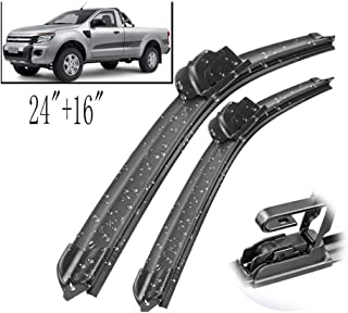 Wiper Front Wiper Blades  ,For Ford Ranger PJ, PK, PX 09/2011-06/2015 Windshield Windscreen Front Window 24