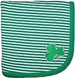 Creative Knitwear Irish Baby Shamrock Stripe Blanket