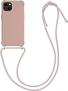 kwmobile telefoonhoesje compatibel met Apple iPhone 13 - Hoesje met koord in parelmoer