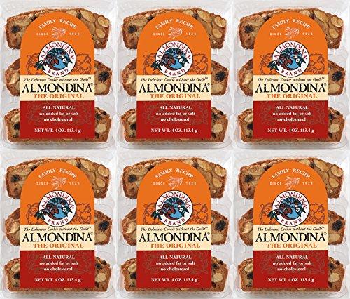 Almondina Almond Cookies, Original, 4-Ounce Package (Pack of 6)