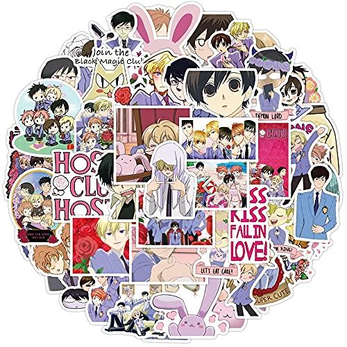 JINER Japanese Anime Ulan High School Host Club Sticker Ski Laptop Luggage Fridge Guitar Doodle Cool Kids Sticker 50PCS