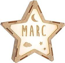 VINTIUN kinderlamp voor het verwijderen van baby's/peuters in de vorm van een ster. Nachtlampje personaliseerbaar met uw naam