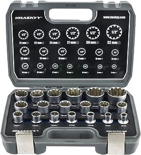 Universal växellås-hylsnyckel/uttag 1/2 tum 8-32 multitandad torx-tum Imperial verktyg/19 delar/ inre yttre uttag set