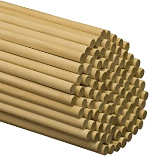 Wooden Dowel Rods – 1/2 x 60 Inch Unfinished Hardwood Sticks – for Crafts and DIY'ers – 25 Pieces by Woodpeckers