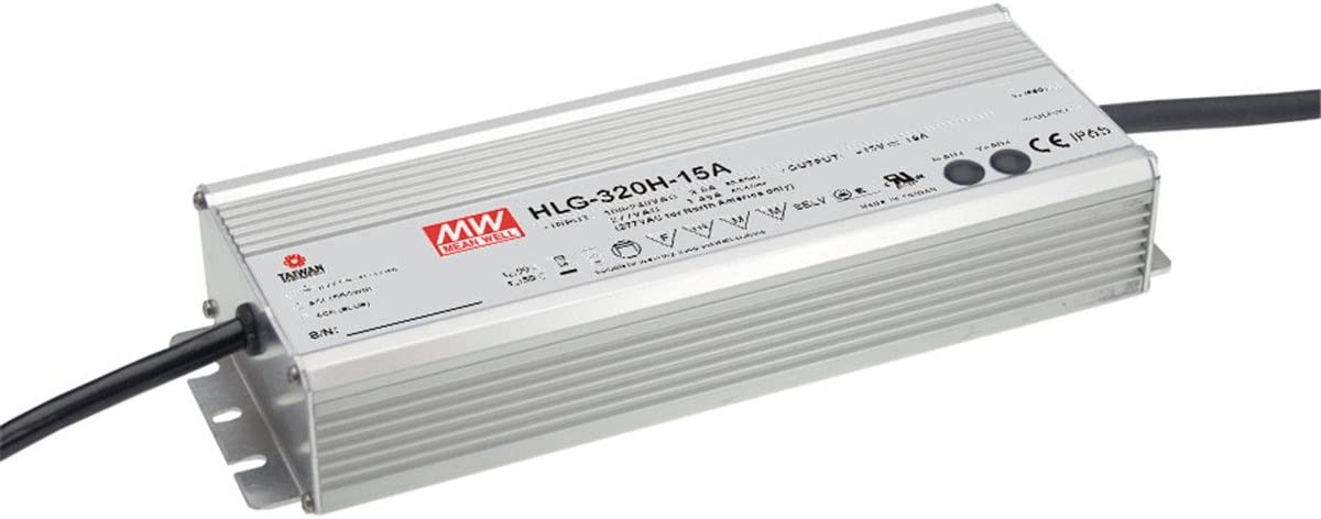 MEAN WELL HLG-320H-42A 320 W Single Output 7.65 A 42 Vdc Output Max IP65 Switching Power Supply - 1 item(s)