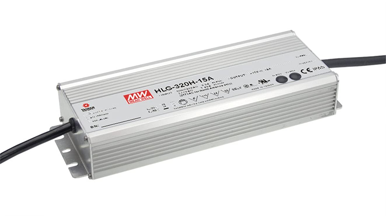 Mean Well HLG-320H-12A Switching LED Power Supply, Single Output, 12V, 0-22A, 264W, 1.7