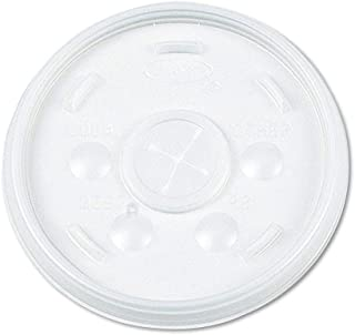 Dart Plastic Lids, for 32-oz. Hot/Cold Foam Cups, Slip-Thru Lid, White, 1000/CT (32SL)