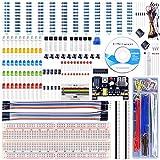 UNIROI arduino/Raspberry Pi用 電子キット 40種セット 初心者 R3 PNP S8550+電解コンデンサ+電源モジュール 電子工作 キット ブレッドボード mega 3 2 model B A A+ +に互換 UA001