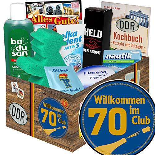 Wilkommen im Club 70 ++ Geschenkset Pflege DDR ++ Geschenke zum 70. Geburtstag