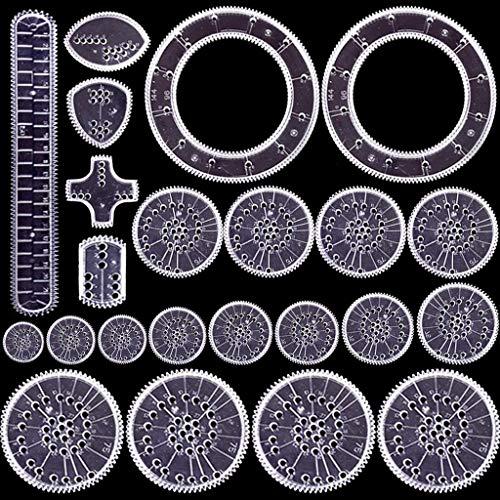 Set da disegno con spirografo, creativo e lussuoso, 22 pezzi