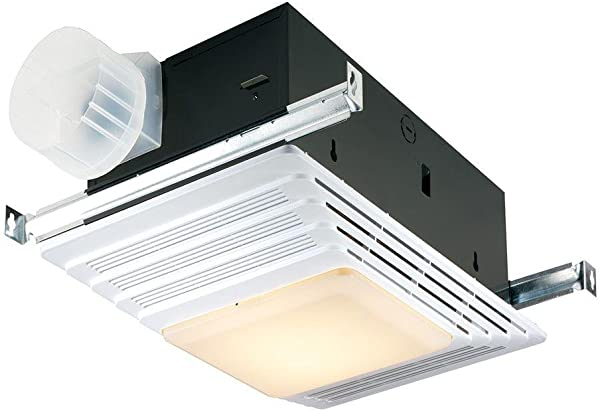 Broan Nutone 659 Heater Fan And Light Combo For Bathroom And Home 2 5 Sones 1300 Watts 50 CFM