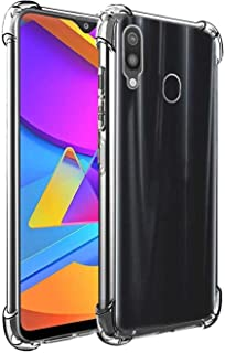 WOW Imagine Shockproof Flexible Protective Cushioned Edges Crystal Clear TPU Bumper Corners Back Case Cover for Samsung Galaxy A20/A30/M10s (Transparent)