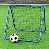 Multigot. Football Net, Rebound Soccer Goal with Adjustable Angle and Foldable Design –Double-sided
